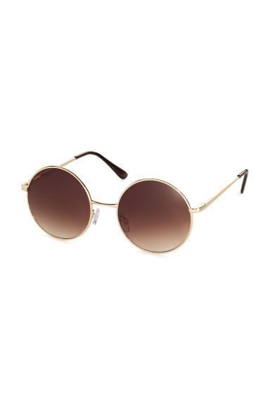 Round sunglasses - Gold - Ladies | H&M CN 1
