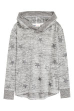 Knitted hooded top  - Grey marl/Stars - Kids | H&M CN 2