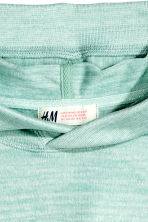 Knitted hooded top  - Mint green marl - Kids | H&M CN 3
