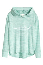 Knitted hooded top  - Mint green marl - Kids | H&M CN 2