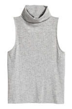 Top senza maniche a collo alto - Grigio mélange - DONNA | H&M IT 2
