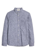Shirt in a linen blend - Grey marl - Men | H&M CN 2