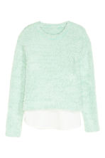 Knitted jumper - Mint green -  | H&M CN 2