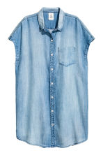 Lyocell shirt dress - Light denim blue - Ladies | H&M CN 2