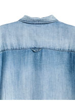 Lyocell shirt dress - Light denim blue - Ladies | H&M CN 3