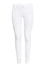 Super Skinny Low Trashed Jeans - White - Ladies | H&M CN 2