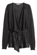 Draped cardigan - Black - Ladies | H&M CN 2