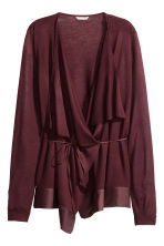 Draped cardigan - Burgundy - Ladies | H&M CN 2