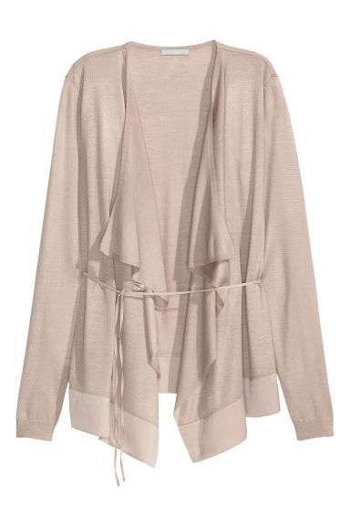 Draped cardigan - Light mole - Ladies | H&M CN 1