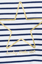 Printed jersey top - Dark blue/Striped - Kids | H&M CN 2