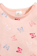 Printed jersey top - Light pink/Butterflies - Kids | H&M CN 2