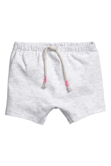 Jersey shorts - Light grey marl -  | H&M CN 1