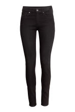 Skinny Regular Jeans - Black denim - Ladies | H&M 4