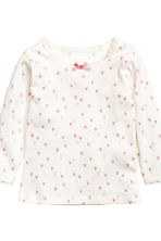 2-pack long-sleeved tops - Light pink - Kids | H&M CN 2