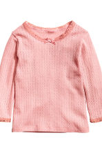 2-pack long-sleeved tops - Light pink - Kids | H&M CN 3