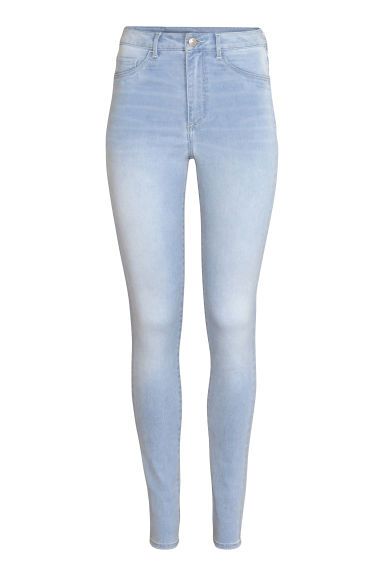 Super Skinny High Jeggings - 浅牛仔蓝 - Ladies | H&M CN 1