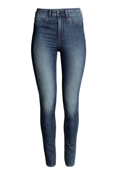 Super Skinny High Jeggings - Dark denim blue - Ladies | H&M GB