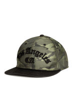 Patterned cap with embroidery - Green/Los Angeles - Men | H&M CN 1