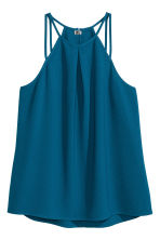 Sleeveless strappy top - Dark blue - Ladies | H&M CN 2