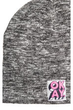 Knitted hat - Black marl - Kids | H&M CN 2