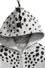Patterned hooded jacket - Grey/Dinosaur - Kids | H&M CN 3