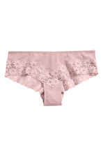 Mesh and lace hipster briefs - Vintage pink - Ladies | H&M CN 2
