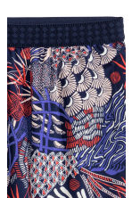 Crêpe trousers - Dark blue/Patterned - Ladies | H&M CN 3