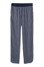 Crêpe trousers - Dark blue/White patterned - Ladies | H&M CN 2