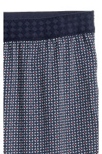 Crêpe trousers - Dark blue/White patterned - Ladies | H&M CN 3