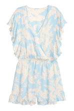 Playsuit - Light blue/Floral - Ladies | H&M CN 2