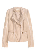 Imitation suede jacket - Light beige - Ladies | H&M CN 2