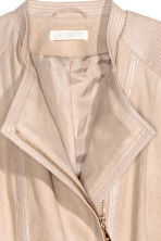 Imitation suede jacket - Light beige - Ladies | H&M CN 4