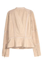 Imitation suede jacket - Light beige - Ladies | H&M CN 3