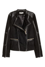Imitation suede jacket - Black - Ladies | H&M CN 2
