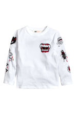 Long-sleeved printed T-shirt - White - Kids | H&M CN 2