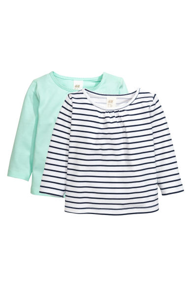 2-pack tops  - Mint green - Kids | H&M CN 1