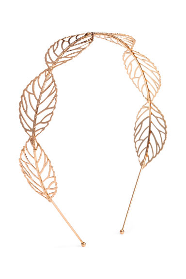 Alice band with leaves - Rose gold - Ladies | H&M CN 1