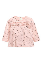 Frilled top - Light pink/Stars - Kids | H&M CN 1