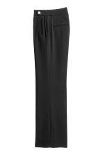 Wide suit trousers - Black - Ladies | H&M CN 3