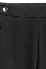 Wide suit trousers - Black - Ladies | H&M CN 4