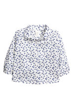 Cotton blouse - White/Patterned - Kids | H&M CN 1