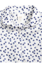 Cotton blouse - White/Patterned - Kids | H&M CN 2