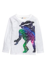 Long-sleeved T-shirt - White/Robot - Kids | H&M CN 2