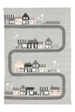 Cotton rug with a motif - Light grey/City - Home All | H&M CN 2