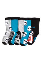 5-pack socks - Black/Star Wars - Kids | H&M CN 2