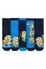 5-pack socks - Dark blue/Minions -  | H&M CN 1