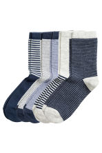 5-pack socks - Dark blue - Kids | H&M CN 1