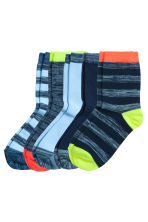 5-pack socks - Light blue - Kids | H&M CN 1