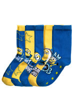 5-pack anti-slip socks  - Yellow/Minions - Kids | H&M CN 2