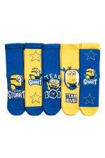 5-pack anti-slip socks  - Yellow/Minions - Kids | H&M CN 1